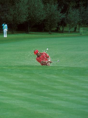 Professional Golfer Lee Elder, Masters on April 13, 1975 Photographic Print