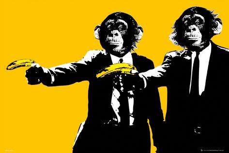 Monkeys - Bananas Poster