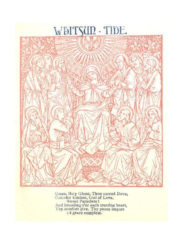 Monochromatic Stylized Religious Imagery Art Print