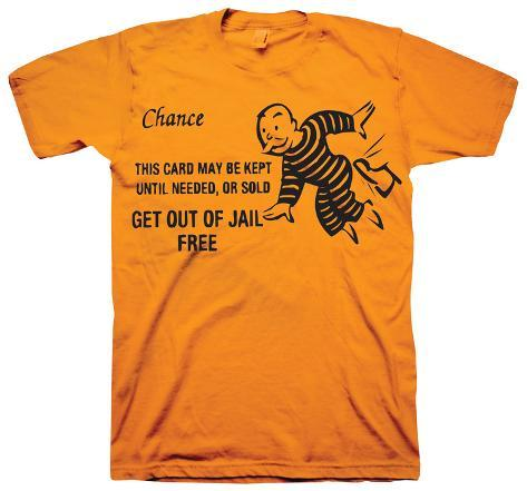 Monopoly - Get Out Of Jail Free T-Shirt
