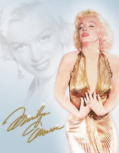 Monroe - Gold Dress Carteles metálicos