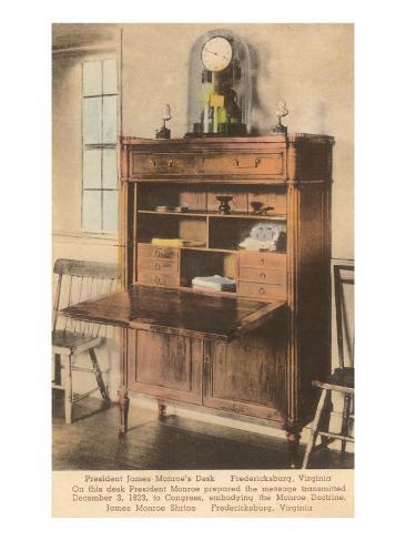 Monroe's Desk, Fredericksburg, Virginia Art Print