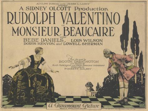 Monsieur Beaucaire, 1924 Konstprint