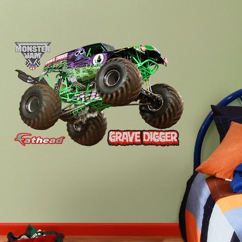 Monster Truck Wall Stickers Part - 35: Monster Trucks Grave Digger - Fathead Jr. Wall Decal Sticker Wall Decal At  AllPosters.com