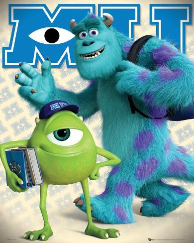 Monsters University Mike & Sulley Mini Poster