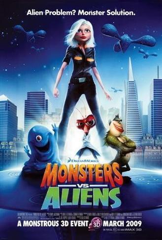 Monstros vs Alienígenas Pôster