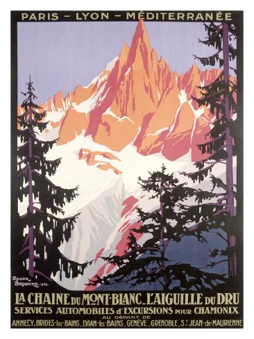 Mont Blanc, Chamonix Giclee Print