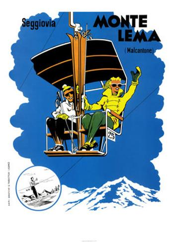 Monte Lema Art Print