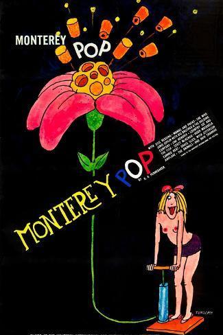MONTEREY POP, poster art, 1968. Art Print