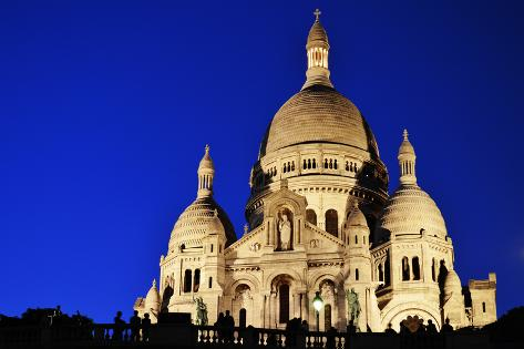 Basilica Sacre Coeur (Sacred Heart) Montmartre in Paris Photographic Print