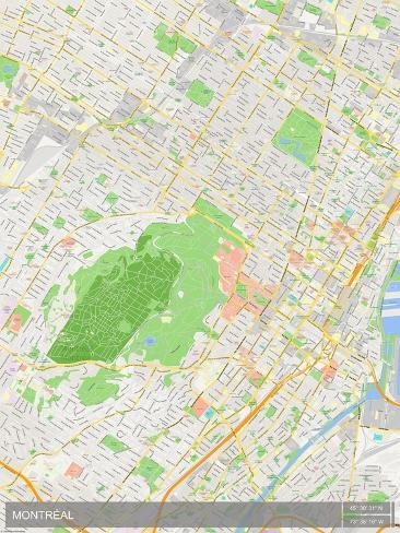 image relating to Printable Map of Montreal titled Montreal, Canada Map