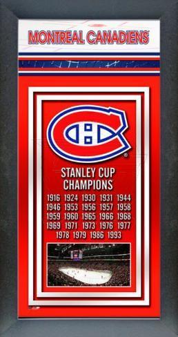 Montreal Canadiens Framed Championship Banner Framed Memorabilia