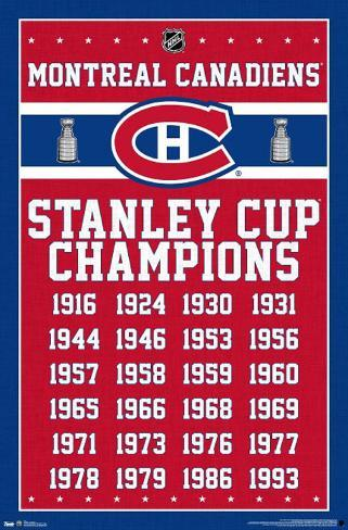 Montreal Canadiens - Stanley Cup Champions Poster