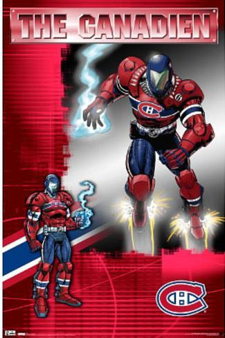 Montreal Canadiens The Canadien Guardian Poster