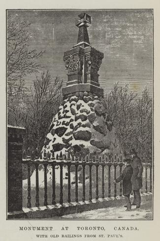 Monument at Toronto, Canada, with Old Railings from St Paul's Giclee Print