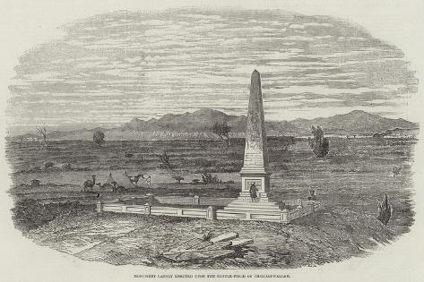 Monument Lately Erected Upon the Battle-Field of Chillianwallah Giclee Print