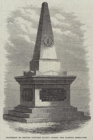 Monument to British Officers Killed During the Taeping Rebellion Giclee Print