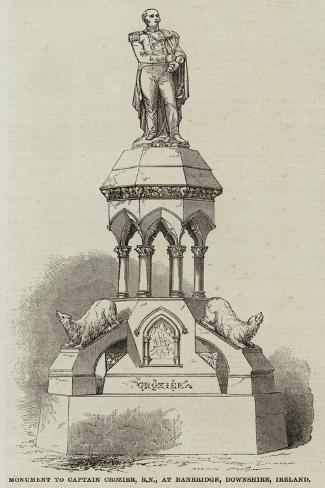 Monument to Captain Crozier, at Banbridge, Downshire, Ireland Giclee Print