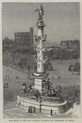 Monument to the Late Admiral Wilhelm Von Tegethoff at Vienna Giclee Print