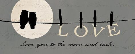 Moon Lovers I Art Print