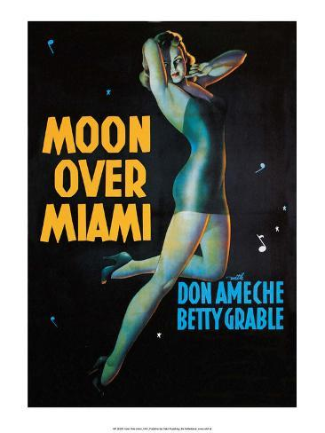 Moon Over Miami - Vintage Movie Poster Stampa artistica