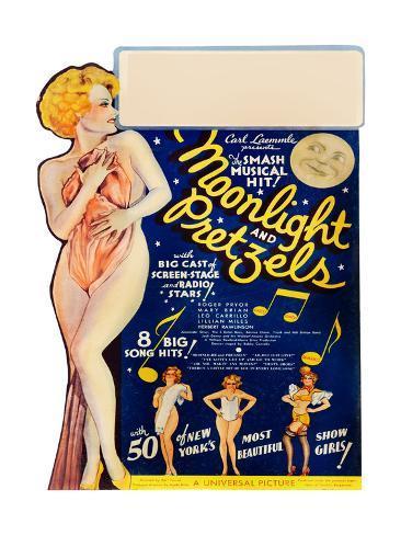 MOONLIGHT AND PRETZELS, US poster art, 1933 Stretched Canvas Print