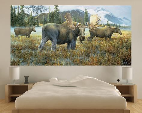 moose indoor outdoor vinyl wall mural wall mural. Black Bedroom Furniture Sets. Home Design Ideas
