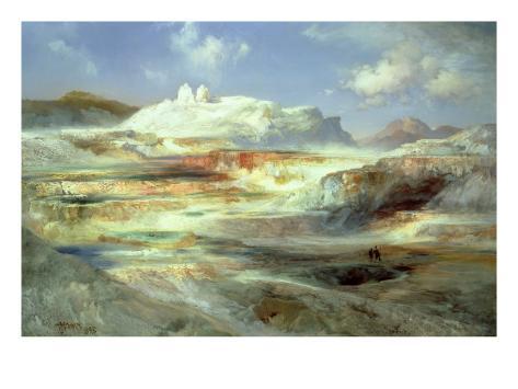 Jupiter Terrace, Yellowstone, 1893 Giclee Print