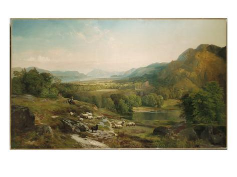 Minding the Flock, C.1867 Giclee Print