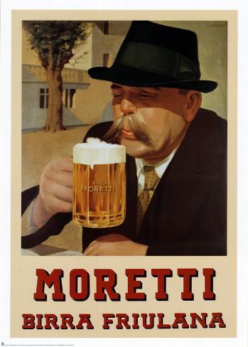 Moretti Birra Friulana Art Print