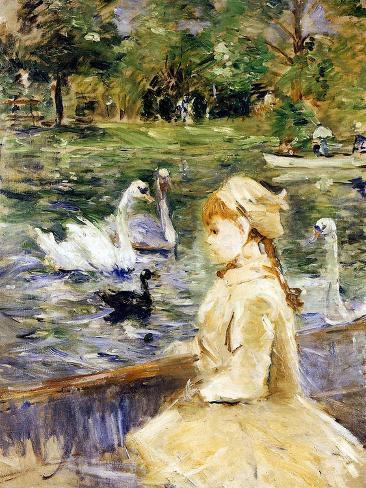 Young Girl Boating, 1884 Giclee Print