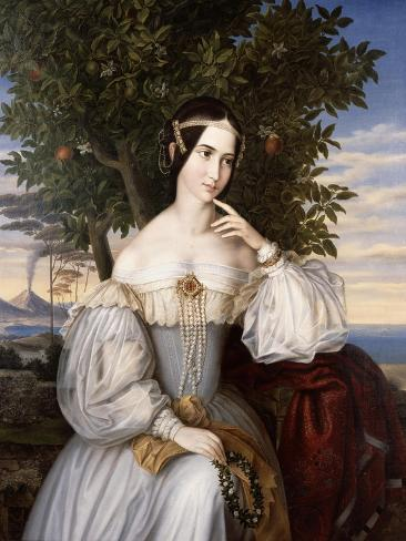 Marriage Portrait of Charlotte De Rothschild, 1836 Giclee Print