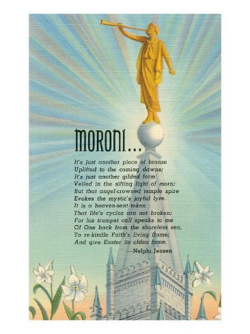 Mormon Statue, Angel Moroni Art Print