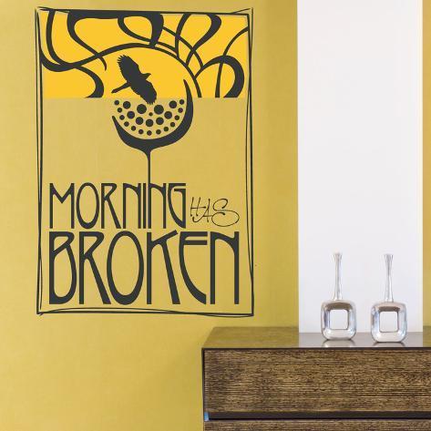 Morning has Broken Yellow Wall Decal Adesivo de parede