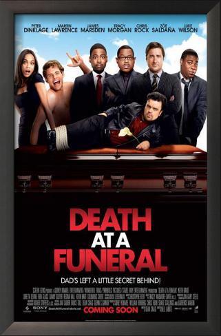 Morte no Funeral Impressão artística emoldurada