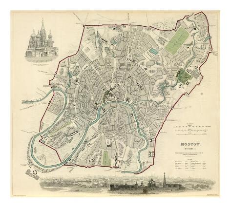 Moscow, Russia, c.1836 Art Print