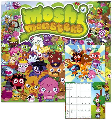 Moshi Monsters - 2013 Wall Calendar Calendars