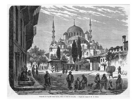 Mosque of Yeni-Jami, Near the Galata Bridge Impressão giclée