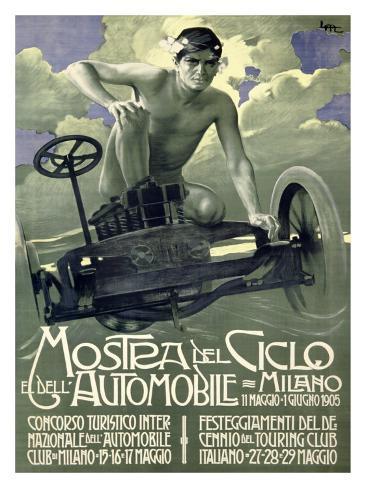 Mostra del Ciclo, Milano, 1905 Giclee Print