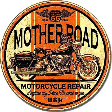 Mother Road Repair Targa di latta