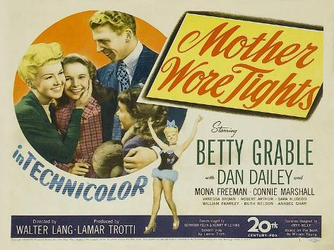 Mother Wore Tights, 1947 Art Print
