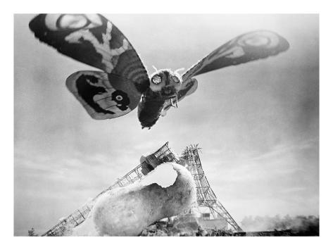 Mothra, 1961 Stretched Canvas Print