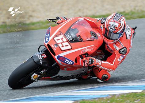 Moto GP (Hayden) Motorcycle Sports Poster Masterprint