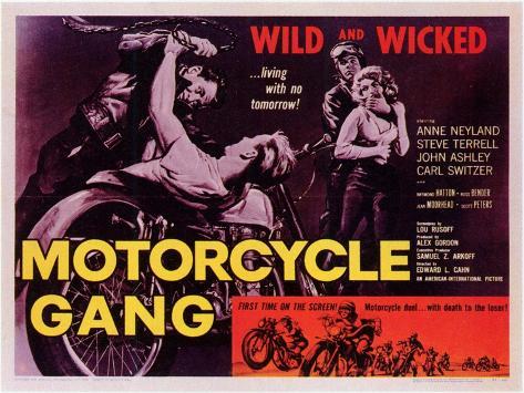 Motorcycle Gang, 1957 Art Print