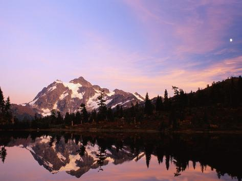 Mount Shuksan at Sunset Photographic Print