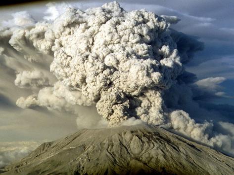 Mount St. Helen's Erupts Photographic Print