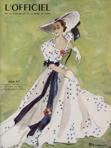 L'Officiel - Robe de Garden Party de L. Mendel Art Print