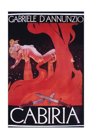 Movie Poster Cabiria Impressão giclée