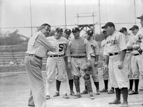 A scene from The Babe Ruth Story. Foto