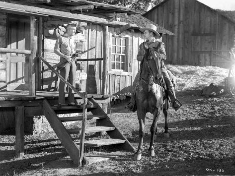 A scene from The Oklahoma Kid. Photo